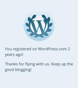 Wordpress 2 Year Anniversary Notification